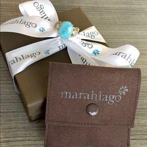 Vintage Marahlago Larimar ring sz 7
